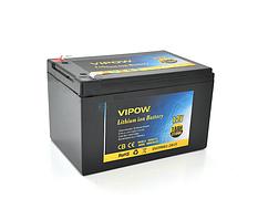 Акумуляторна батарея літієва Vipow 12V 18A з елементами Li-ion 18650 з вбудованою ВМЅ платою, (3S9P)