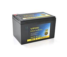 Аккумуляторная батарея литиевая Vipow 12V 20A с элементами Li-ion 18650  со встроенной ВМS платой, (3S10P)