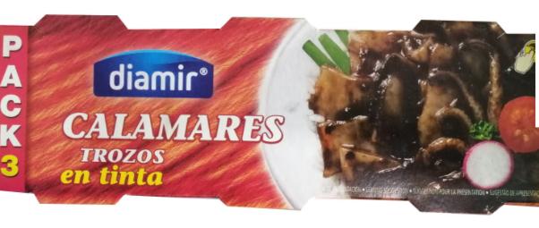 Кальмар в собственных чернилах Diamir Calamares trozos en tinta 3 х 80 г