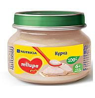 Детское пюре мясное «Цыпленок» Milupa для детей от 6 месяцев.