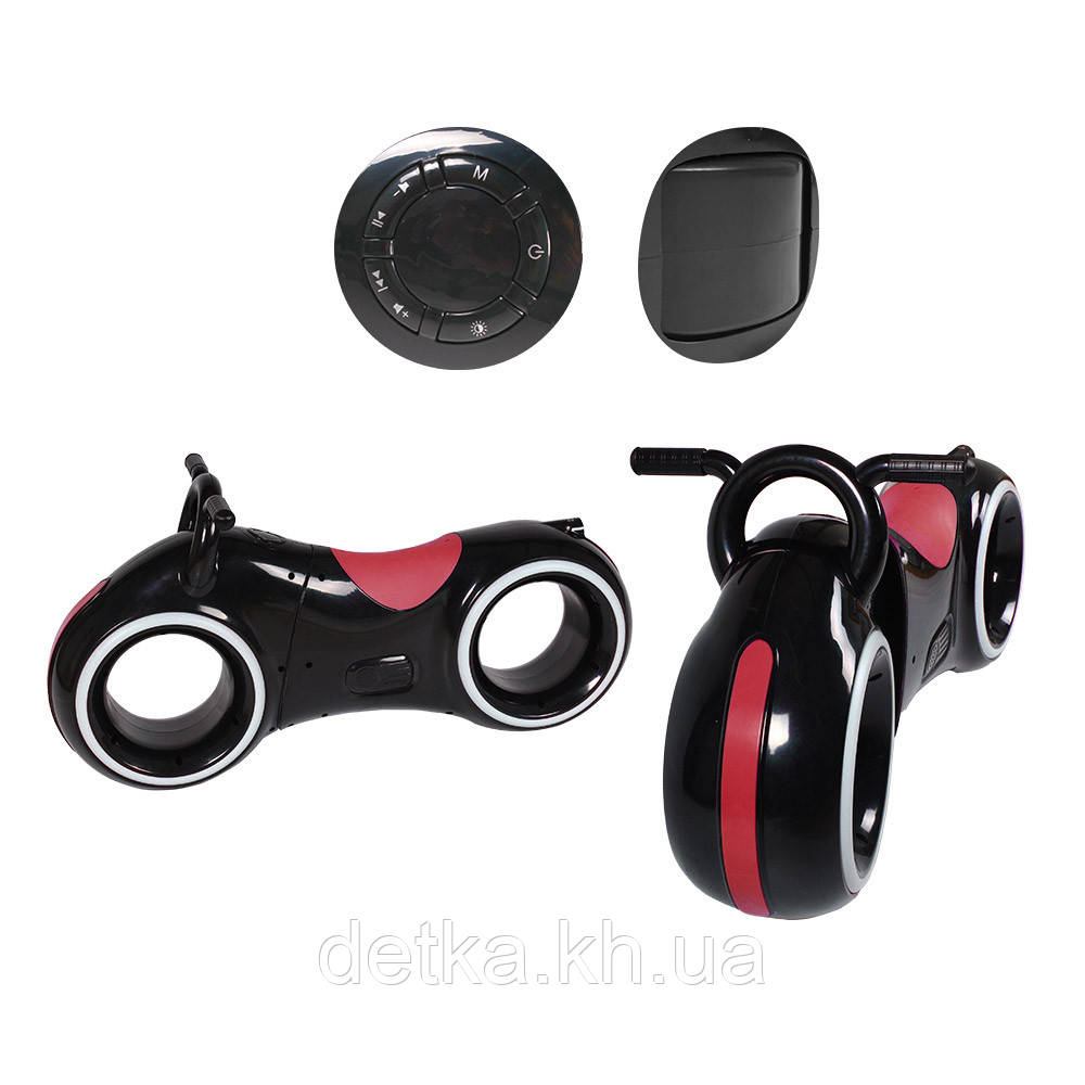 Беговел GS-0020 Black/Red Bluetooth LED-подсветка