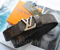 Кожаный ремень Louis Vuitton унисекс коричневый