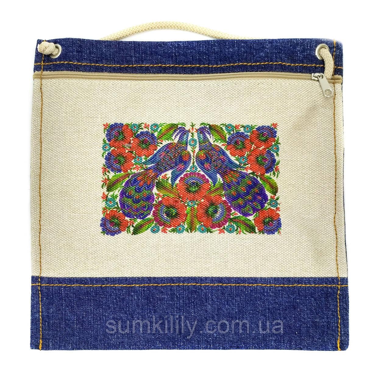 Текстильний гаманець ПТАХИ