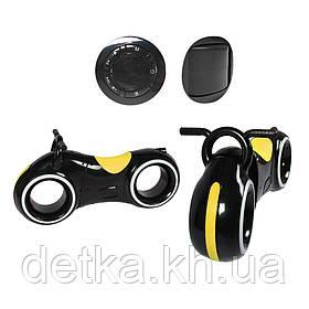 Беговел GS-0020 Black/Yellow Bluetooth LED-подсветка