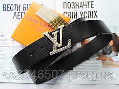 Ремінь шкіряний Louis Vuitton унісекс чорний