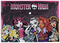 Папка-конверт А4 с кнопкой KITE мод 200 Monster High MH13-200K
