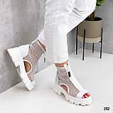 Жіночі черевики білі ЛІТО - ВЕСНА літні еко шкіра+ сітка, фото 3