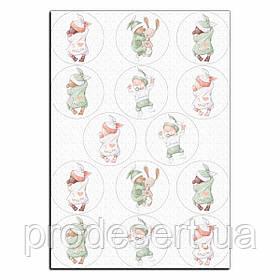Малюки вафельна картинка для капкейків 6 см