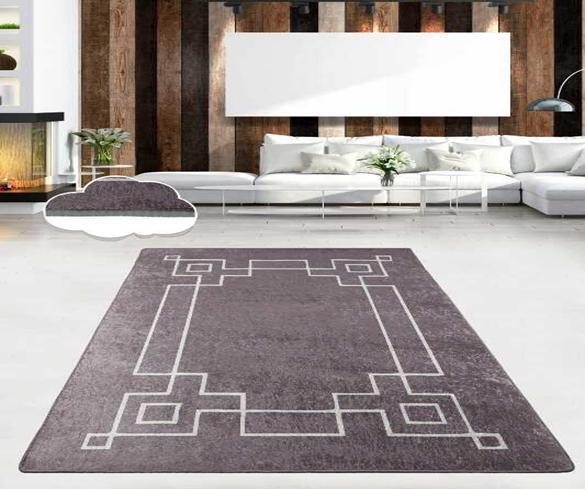 """Безкоштовна доставка!Турецький килим у спальню """"Square Fume"""" 80 на 200 см"""
