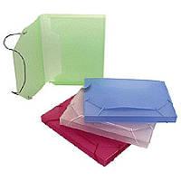 Папка-короб А4 на резинках пластик Economix 20мм 31401_Прозрачный синий