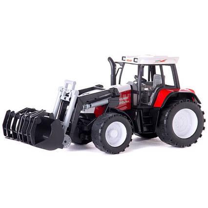 Трактор с ковшом и держатель бревен 2189
