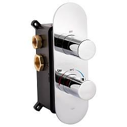 Змішувач термостатичний прихованого монтажу для душу Qtap Votice 65T105OGC для тьорх споживачів