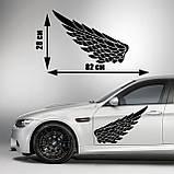Наклейки КРЫЛЬЯ. Наклейка на авто крылья ангела на двери, на кузов, на капот. Размер 82х28см. Цена за 2шт.!, фото 2
