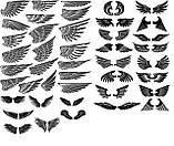 Наклейки КРЫЛЬЯ. Наклейка на авто крылья ангела на двери, на кузов, на капот. Размер 82х28см. Цена за 2шт.!, фото 3
