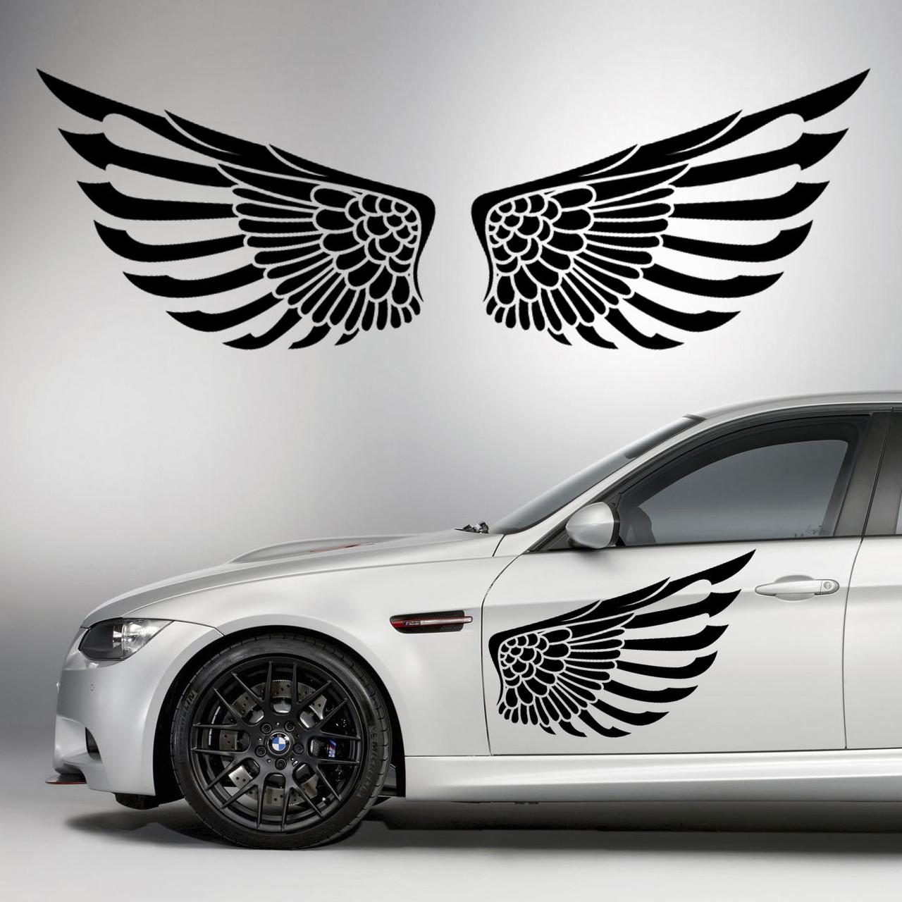 Наклейки КРЫЛЬЯ. Наклейка на авто крылья ангела на двери, на кузов, на капот. Размер 80х29см. Цена за 2шт.!