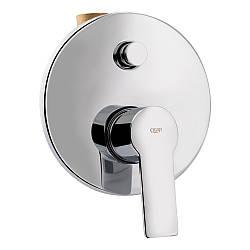 Змішувач прихованого монтажу для душу Qtap Ustek 6216107ODC для двох споживачів
