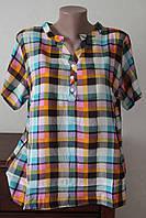 Блуза женская штапель клеточка 2