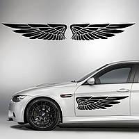 Наклейки КРЫЛЬЯ. Наклейка на авто крылья ангела на двери, на кузов, на капот. Размер 95х25см. Цена за 2шт.!