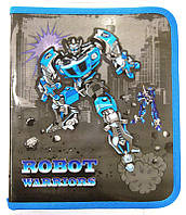 Папка для тетрадей А5+ Мультяшки на молнии Robots 7513