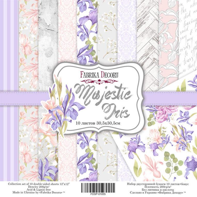 Набор бумаги для скрапбукинга Фабрика Декора 30,5*30,5см Majestic Iris 10л + бонус 200г/м2 FDSP-01055
