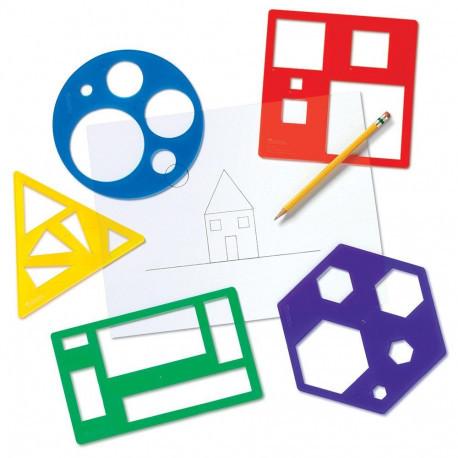 Набір трафаретів «Основні геометричні фігури» Learning Resources