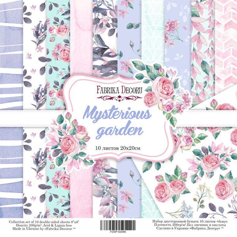 Набор бумаги для скрапбукинга Фабрика Декора 20*20см Mysterious garden 10л + бонус 200г/м2 FDSP-02048