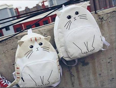 Молодежный рюкзак с уникальным принтом кота, фото 2