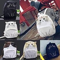 Ексклюзив, Молодіжний рюкзак з унікальним принтом кота, фото 3