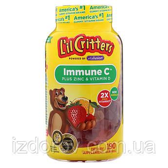 L'il Critters, Immune C с Цинком и витамином D, 190 жевательных конфет