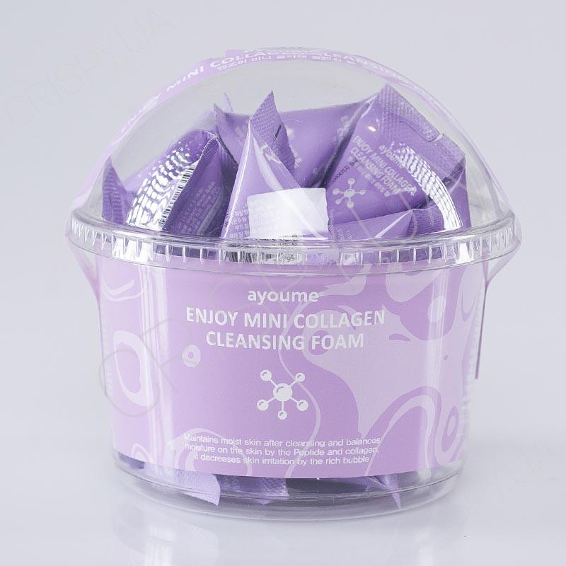 Набір пінок для вмивання з колагеном AYOUME ENJOY MINI COLLAGEN CLEANSING FOAM - 3 г*30 шт