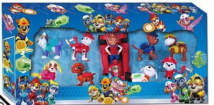Игровой набор Щенячий Патруль 8 фигурок с машинкой 9801