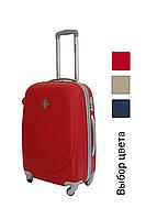 Дорожный чемодан на колесах Bonro Smile для ручной клади Мини Красный