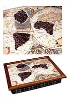 "Поднос на подушке ""Карта три зерна"""