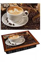 """Поднос на подушке """"Кофе часы очки"""", фото 1"""
