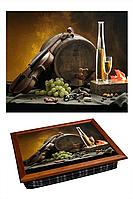 """Поднос на подушке """"Бочка, скрипка, вино"""", фото 1"""
