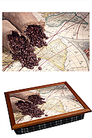 "Поднос на подушке ""Карта два зерна"", фото 1"