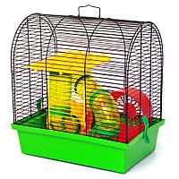 Лорі БУНГАЛО 2 ЛЮКС - клітка для невеликих гризунів, колір асорті, 335х230х365