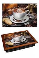 "Поднос на подушке ""Кофе, цветок"", фото 1"