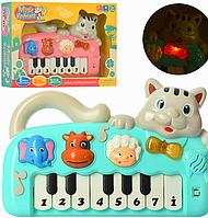 Музыкальное детское пианино 999-10a,пианино 999-10а,пианино котик,пианино котенок