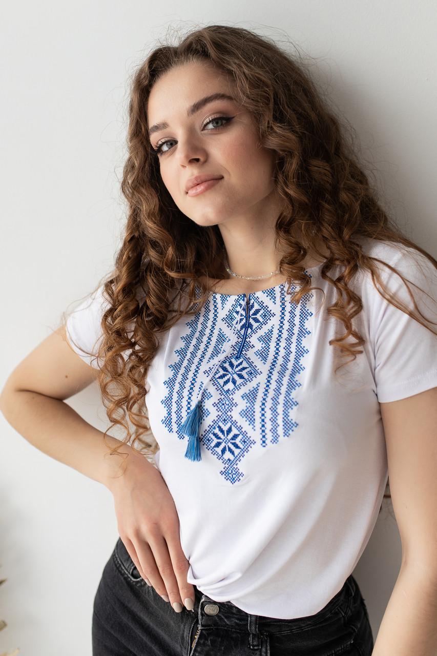 """Этнический стиль футболки """"Гуцулка"""""""