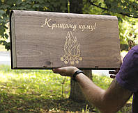 Шампура 6 шт Куму с деревянной ручкой в коробке подарок на день рождения куиу