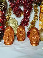 """Свеча """"Три лика святых"""" золото"""