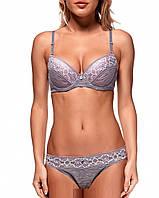 Комплект женского белья Balaloum 9256 AT бюст пуш ап и трусики стринг