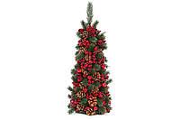 Елка новогодняя настольная с декором из шишек и красных ягод, 55см