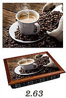 """Поднос на подушке """"Чашка с насыпанным зерном"""", фото 1"""