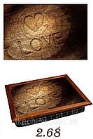 """Поднос на подушке """"Love на дереве"""", фото 1"""