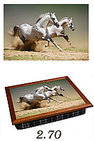 """Поднос на подушке """"Две лошадки"""", фото 1"""