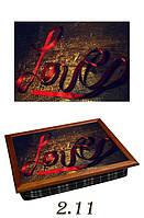 "Поднос на подушке ""Love (надпись лентой)"", фото 1"