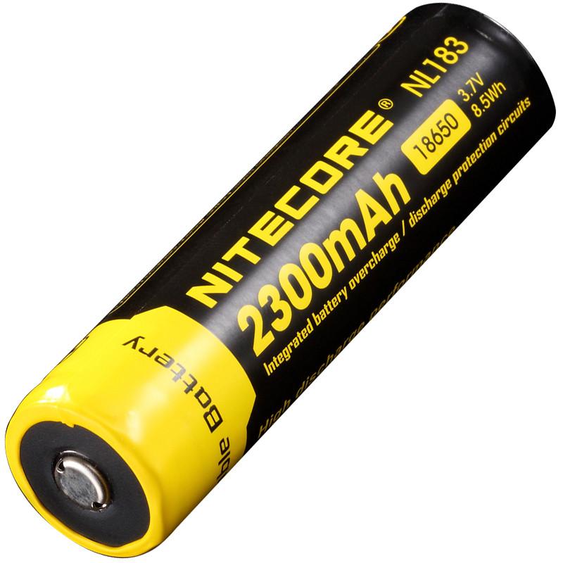 Аккумулятор литиевый Li-Ion 18650 Nitecore NL183 3.7V 2300mAh