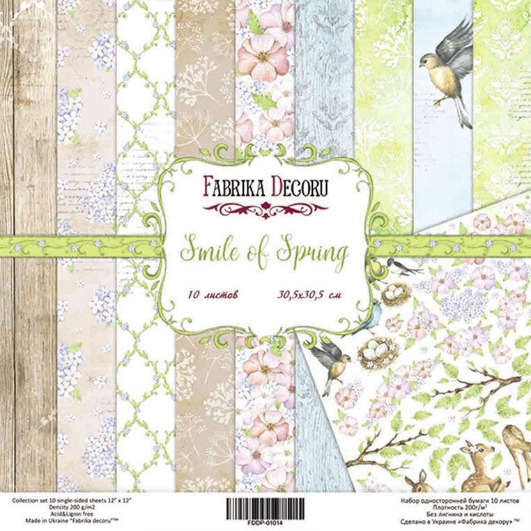 Набор бумаги для скрапбукинга Фабрика Декора 20*20см Smile of spring 10л 200г/м2 FDSP-02014